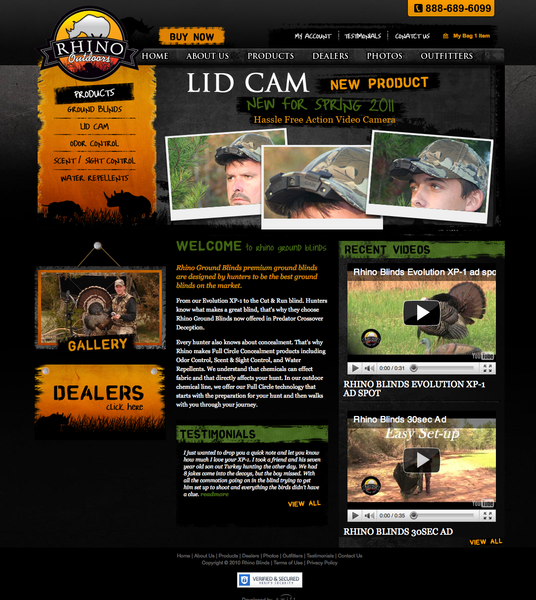Rhino Outdoor Launches New Website and Lid Cam Action Video Camera