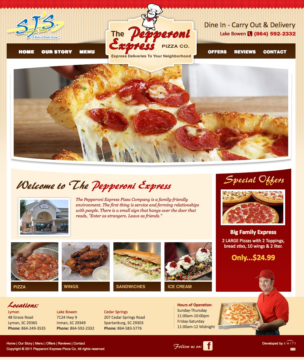 The Pepperoni Express launches new website