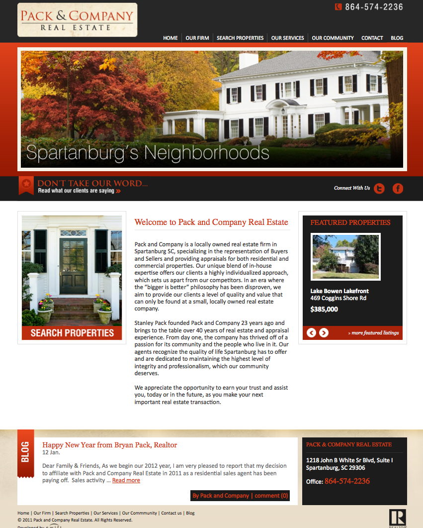 Pack and Company Real Estate ~ Launches New Website