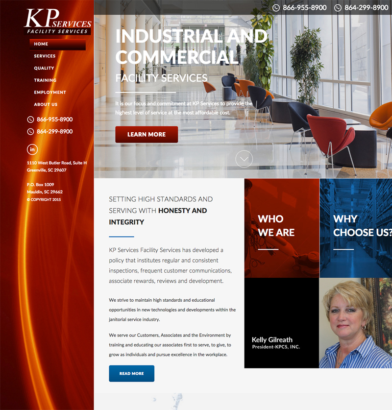 KP Services Industrial Cleaning Company Launches New Website