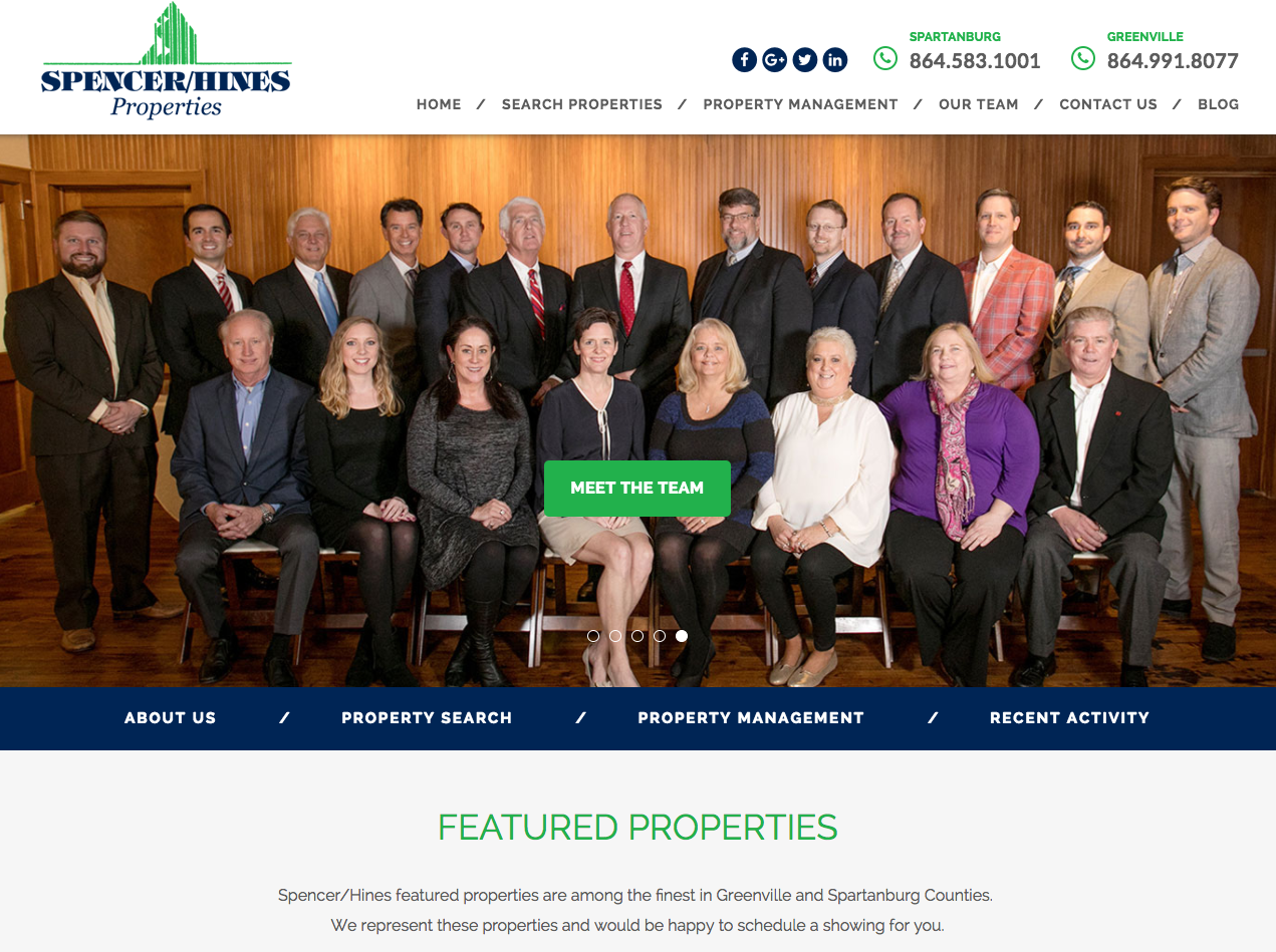 Spencer Hines Commercial Real Estate | Website Reimage